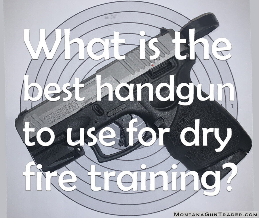 What is the best handgun to use for dry fire training systems like Mantis X?
